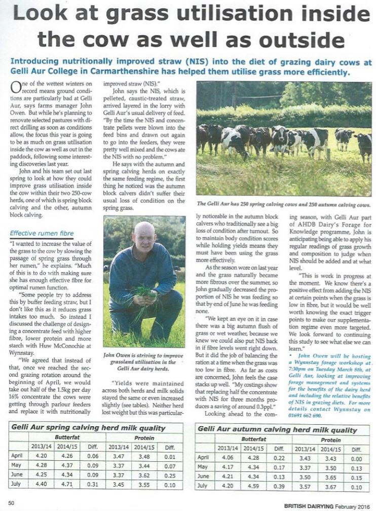 British Dairying Article Feb 2016