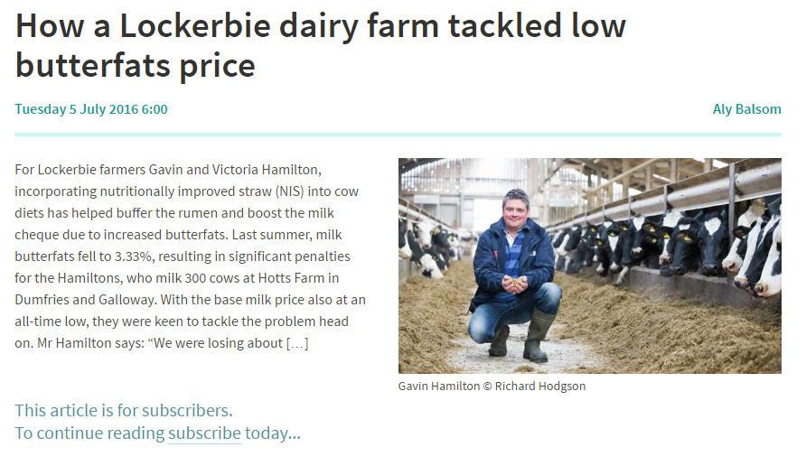 Farmer Weekly Article July 2016