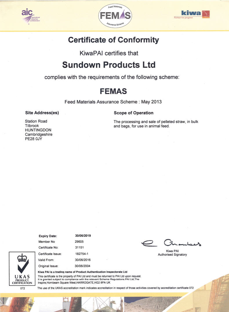 Sundown Products Animal Bedding And Nis Certification Awards