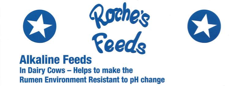 Roche's Feeds Alkaline Feeds Flyer Header