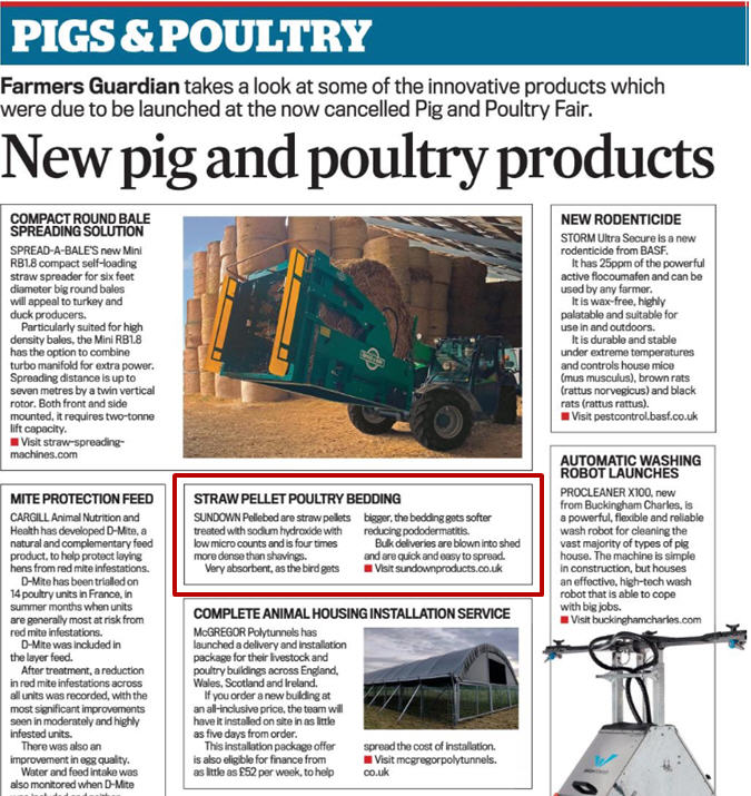 Farmers Guardian Article Re Pellebed