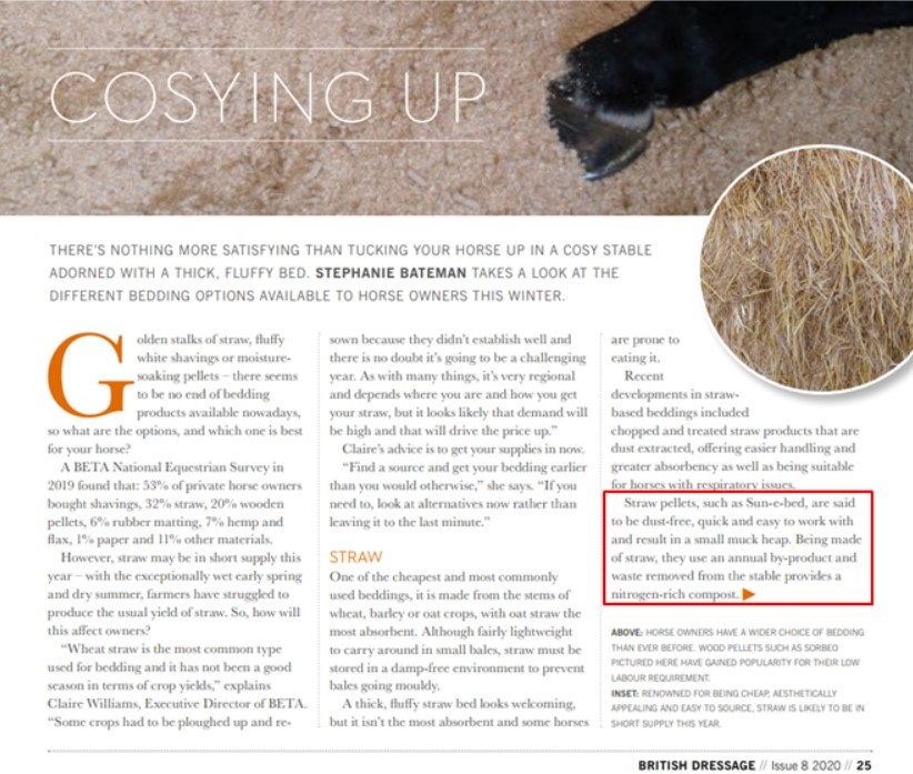 British Dressage Bedding Article Image